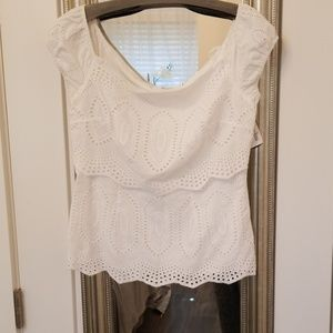 White Bailey44 off the shoulder blouse